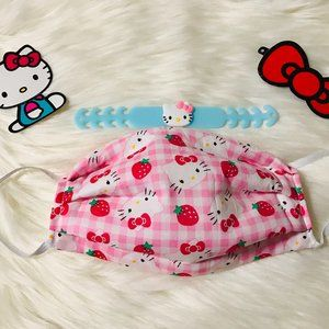 Other - Strawberry Hello Kitty Mask with Ear Saver